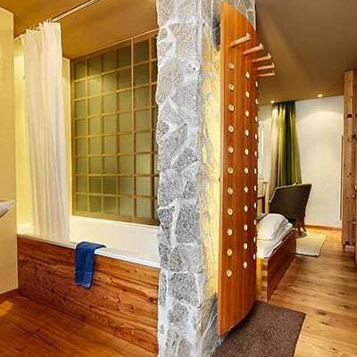 Single room with wide bed